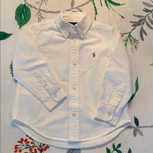 White Ralph Lauren oxford shirt 3T
